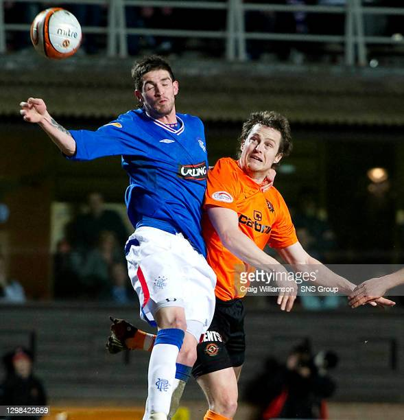 V RANGERS.TANNADICE - DUNDEE.Dundee Utd's Jon Daly is unlucky to miss out on a penalty after his header comes off the hand of Kyle Lafferty