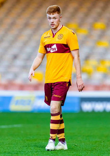 V ROSS COUNTY .FIR PARK - MOTHERWELL.Liam Brown in action for Motherwell Colts.
