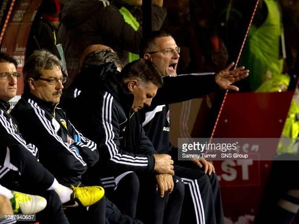 V SCOTLAND .KING BAUDOUIN STADIUM - BRUSSELS.Scotland manager Craig Levein