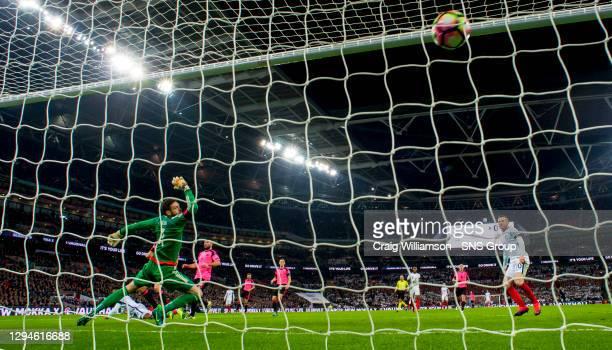 V SCOTLAND.WEMBLEY - LONDON.England's Daniel Sturridge heads home his side's opening goal