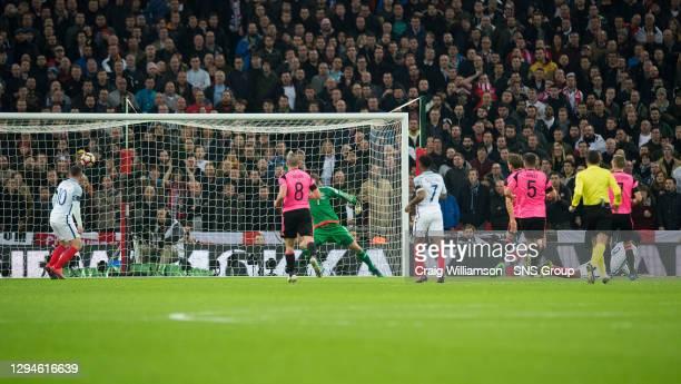 V SCOTLAND.WEMBLEY - LONDON.England's Daniel Sturridge opens the scoring