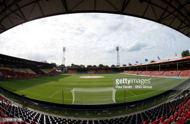 V SPAIN .THE NETHERLANDS.A general view of the Stadion De Adelaarshorst in Deventer .