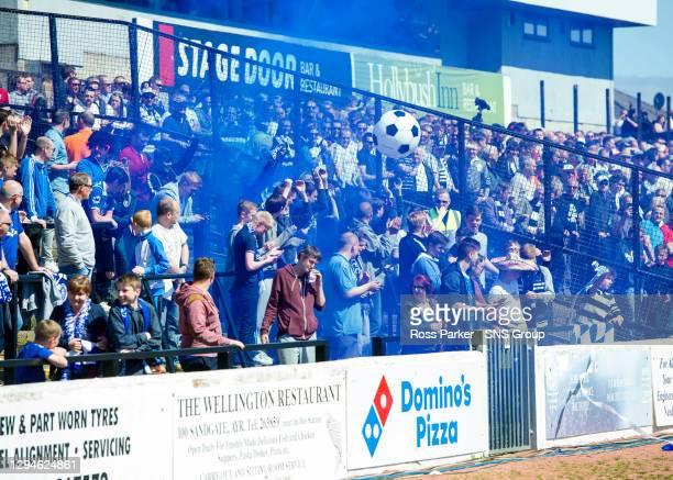 V STRANRAER.Stranraer fans ignite smoke bombs pre-match
