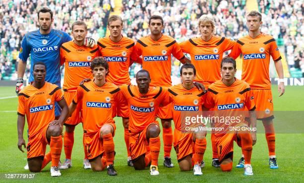 V UDINESE.CELTIC PARK - GLASGOW.Udinese line-up prior to kick-off