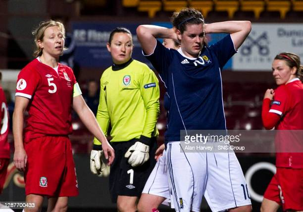 V WALES WOMEN.TYNECASTLE - EDINBURGH.Jennifer Beattie is gutted after missing a good chance to win the game for Scotland