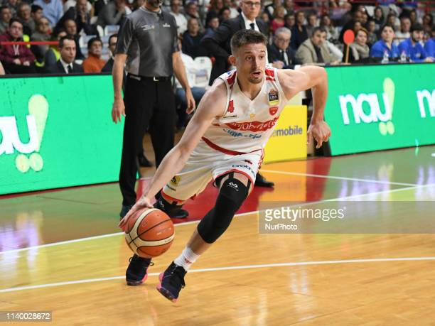 V4 4 ALEKSA AVRAMOVIC of Openjobmetis in action during the Italy Lega Basket of Serie A , Openjobmetis Varese - Victoria Libertas Pesaro on 28 April...