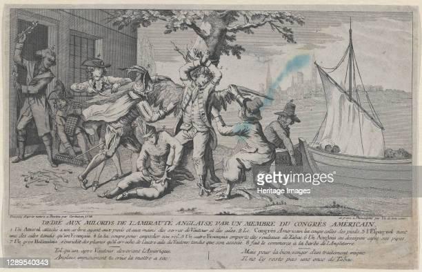 Va de Bon Coeur; D�di� aux Milords de l'Amiraut� Anglaise par un Membre de Congr�s Am�ricain, 1778. Artist Richard Purcell.