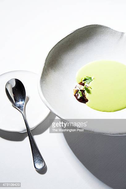 The Green Curry Soup with Dark Chocolate at the restaurant at The Ashby Inn