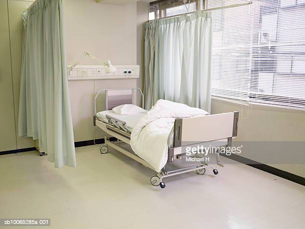Vacant bed in hospital
