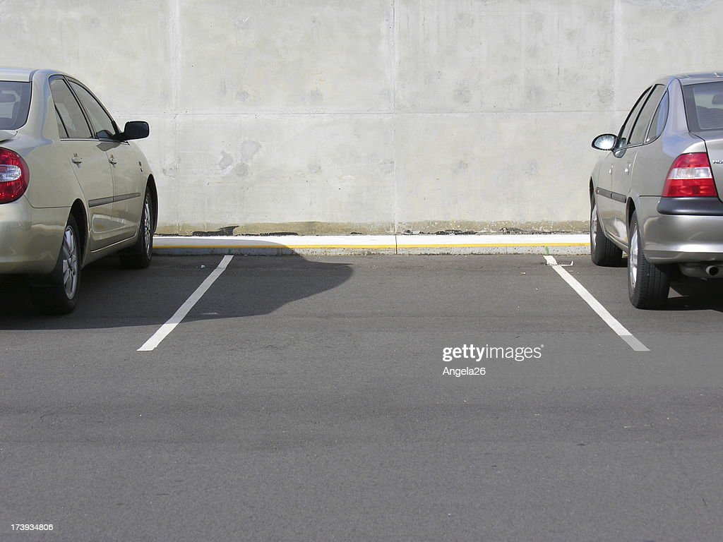 Vacant car parking space : Stock Photo