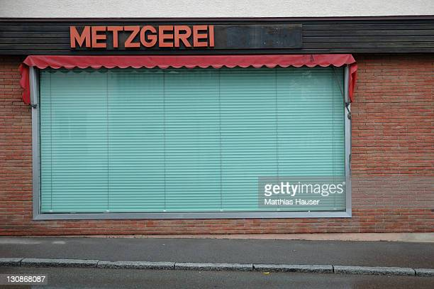 Vacant German Butcher's shop