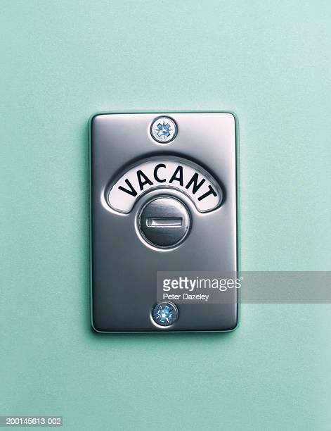 'Vacant' lock, close up