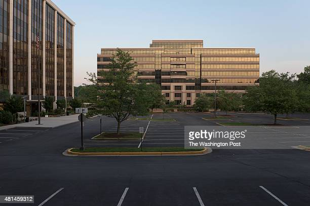 A vacant office building up for lease sits at 6116 Executive Blvd in Rockville Md at dawn on July 12 2015