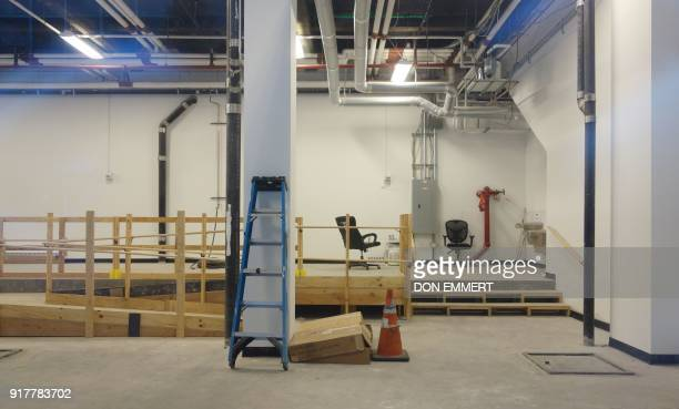 Vacant retail space on the ground floor of the Intercontinental Hotel on Lexington Avenue on February 8 2018 in New York The New York borough of...