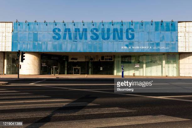 Vacant Samsung Electronics Co. Store operated by Juma Al Majid Holing Group, stands in Dubai, United Arab Emirates, on Tuesday, June 9, 2020. An...