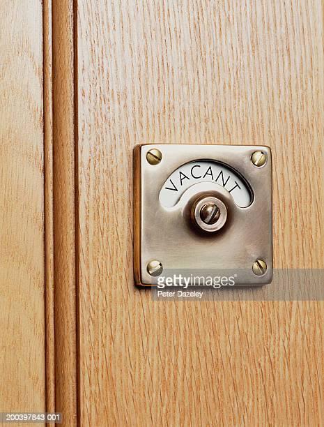 'Vacant' sign on door
