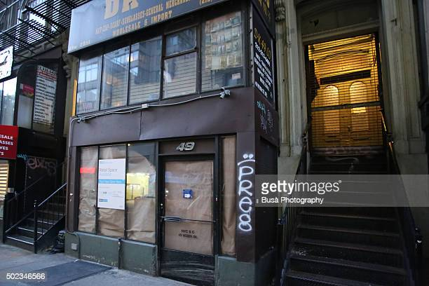 Vacant storefront in Manhattan, New York City