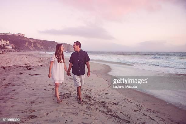Vacation Beach Walk - Happy Adults