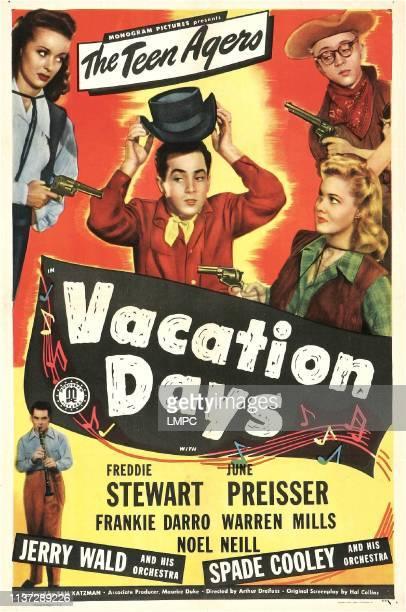 Vacation Days, poster, US poster, from left: Noel Neill, Freddie Stewart, June Preisser, Warren Mills, 1947.