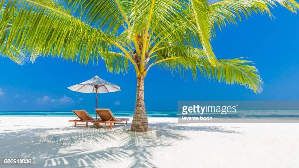 Vacation holidays background wallpaper. Summer beach tourism vacation holiday travel concept. Relaxing happiness romantic idyllic family romantic couple wallpaper.