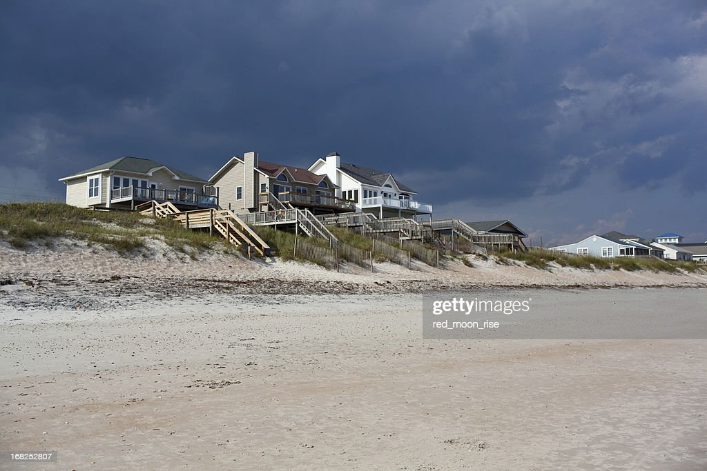 Vacation homes on Topsail Island - NC Outer Banks : Stock Photo