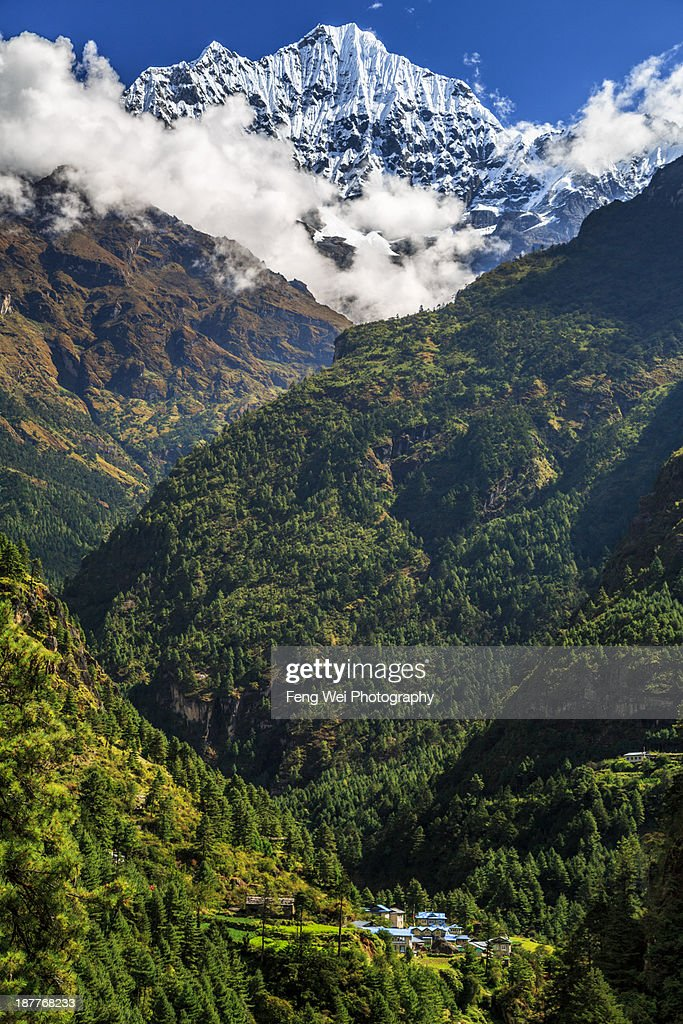Vacation House In the Himalayas : Stock Photo