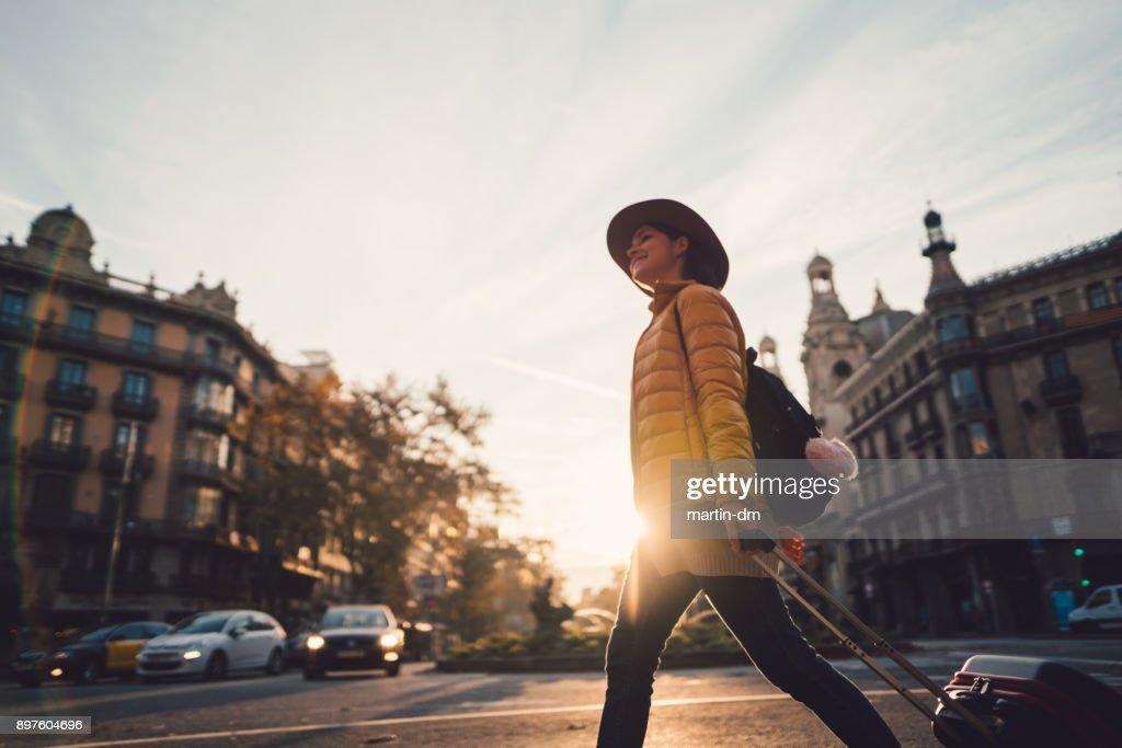 Vacation in Barcelona : Foto de stock