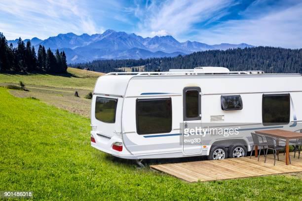 Urlaub in Polen - Zeltanhänger in der hohen Tatra