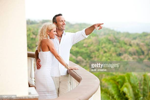 Vacation Lifestyles-Elegant Couple Enjoying the View