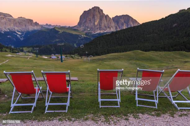 Vacation times in secede, Dolomite, Italy
