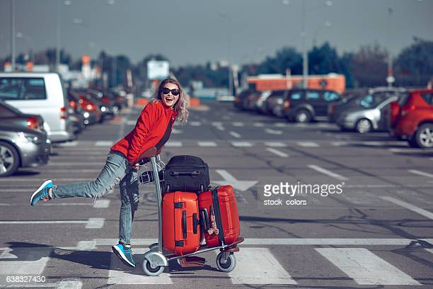 vacation, travel, happiness - car park stock pictures, royalty-free photos & images
