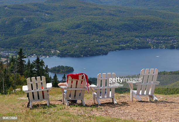 vacation with a view - mont tremblant stock pictures, royalty-free photos & images