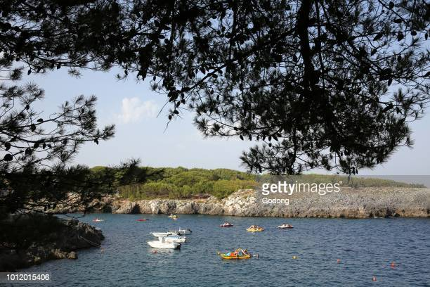 Vacationers in Porto Badisco Italy