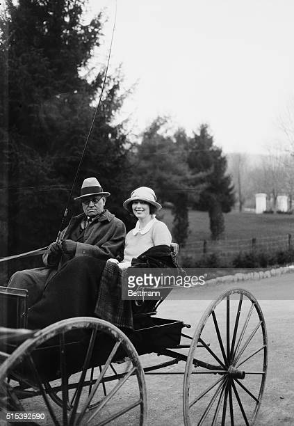 Vacationing at Hot Springs Va Mr and Mrs Lawrence Breese of Southampton and NY enjoy a drive in buggy