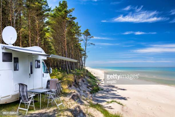 Vacations in Poland - camper in Baltic seashore  around Leba resort in Pomorskie province
