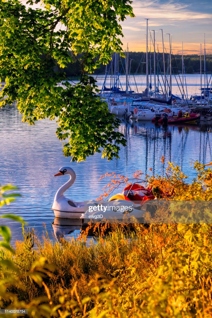 Vacations in Poland - Holiday with a sailboat by the lake : Stock Photo