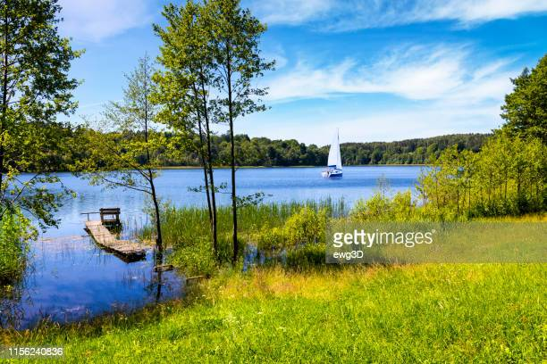 Vacations in Poland - Summer view of bay of the Drawsko lake