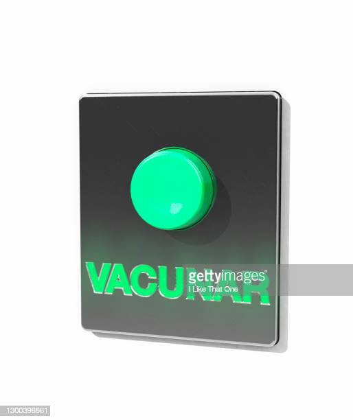 vaccinate alarm button - atomic imagery stock pictures, royalty-free photos & images
