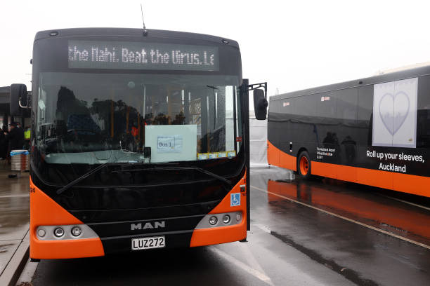NZL: Lockdown Restrictions Continue As Mobile Vaccination Buses Roll Out Across Auckland To Boost Immunisation Numbers