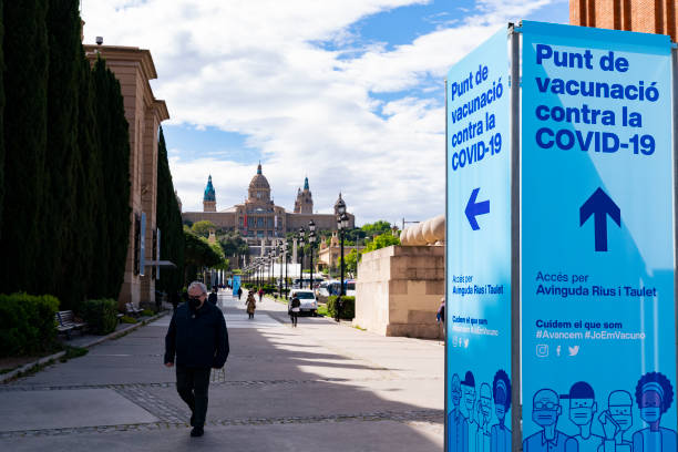 ESP: Coronavirus - Vaccination Centre In Barcelona
