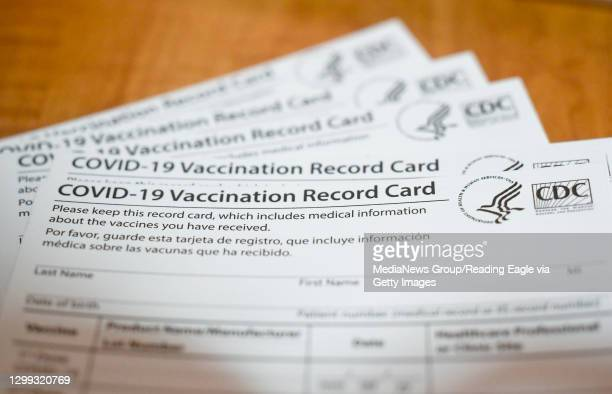 Vaccination Record Card from the CDC . At the Berks Heim Nursing and Rehabilitation Center in Bern Township Friday morning January 29, 2021 where...
