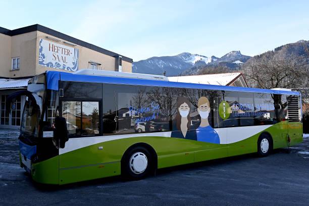 DEU: Vaccine Bus Offers COVID Inoculations In Traunstein Region