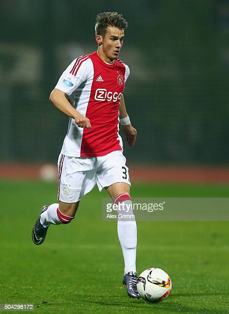 Vaclav Cerny of Ajax controles the ball during a friendly match between Hamburger SV and Ajax Amsterdam at Gloria Sports Center on January 9, 2016 in...