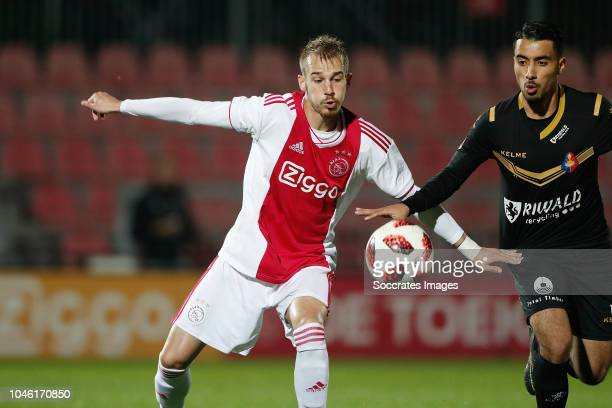 Vaclav Cerny of Ajax U23 Anass Najah of Telstar during the Dutch Keuken Kampioen Divisie match between Ajax U23 v Telstar at the De Toekomst on...