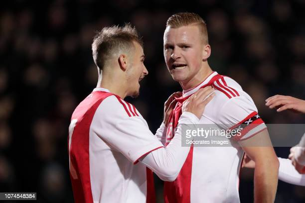 Vaclav Cerny of Ajax U23, Dani de Wit of Ajax U23 during the Dutch Keuken Kampioen Divisie match between Ajax U23 v Sparta at the De Toekomst on...