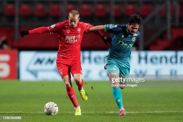 Vaclav Cerny of FC Twente, Mica Pinto of Sparta Rotterdam during the Dutch Eredivisie match between Fc Twente v Sparta at the De Grolsch Veste on...
