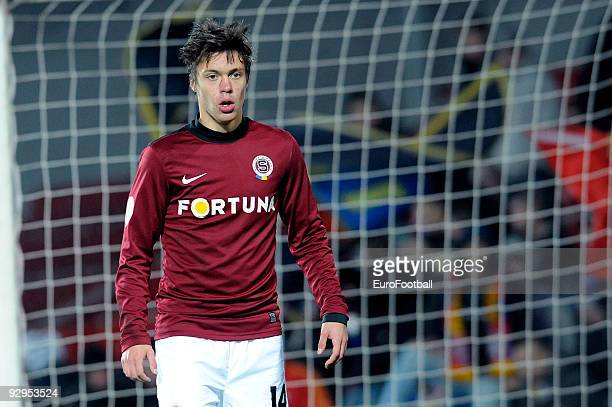 Vaclav Kadlec of AC Sparta Praha during the Gambrinus Liga match between AC Sparta Praha and FC Banik Ostrava held on October 31, 2009 at the...
