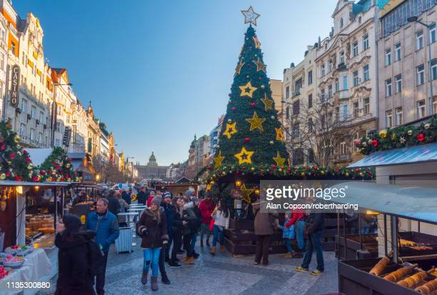 vaclavske namesti (wenceslas square), nove mesto (new town), prague, czech republic, europe - alan copson stock pictures, royalty-free photos & images