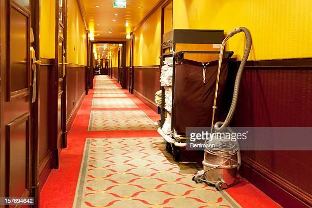 真空クリーナには、ホテルの廊下