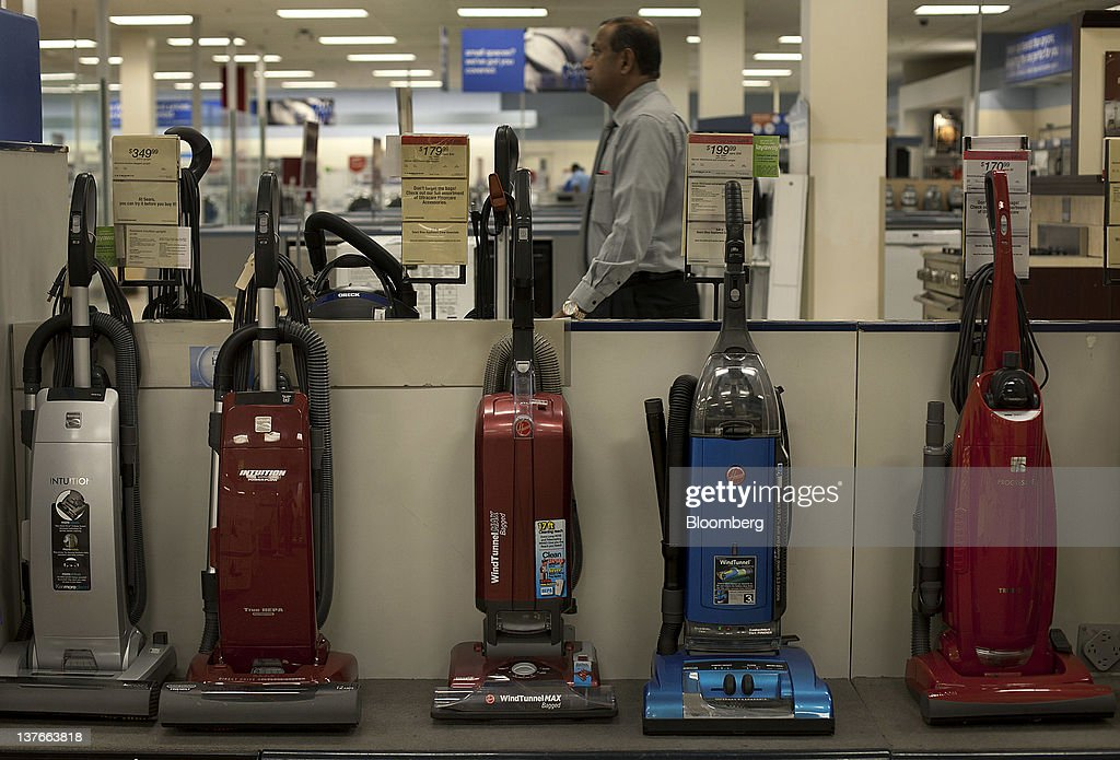 Vacuum cleaners are displayed for sale at a Sears Holdings Corp. store in Jersey City, New Jersey, U.S., on Tuesday, Jan. 24, 2012. The U.S Census Bureau is scheduled to release durable goods data on Jan. 26. Photographer: Victor J. Blue/Bloomberg via Getty Images